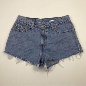 Levi's Shorts - Vintage LEVI'S Jean Shorts Wedgie Fit Jeans Sz 27
